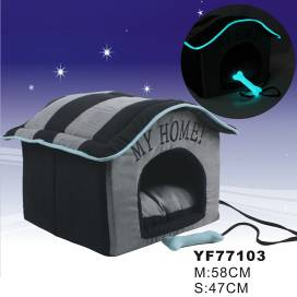 Pet Glow-in-dark soft fabric house