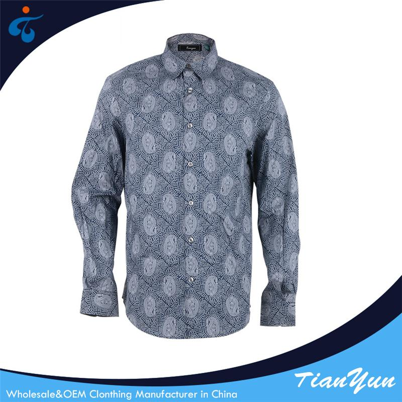 China custom printed comfortable casual cotton shirt