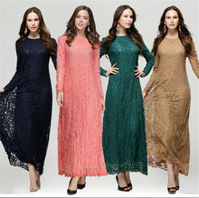 China Factory long sleeve maxi chiffon lace muslim jubah wedding evening dresses latest
