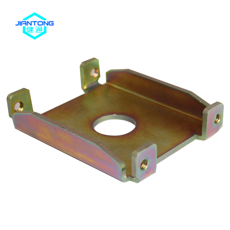 high quality precision customized small galvanzied OEM sheet metal stamping part with metal plate