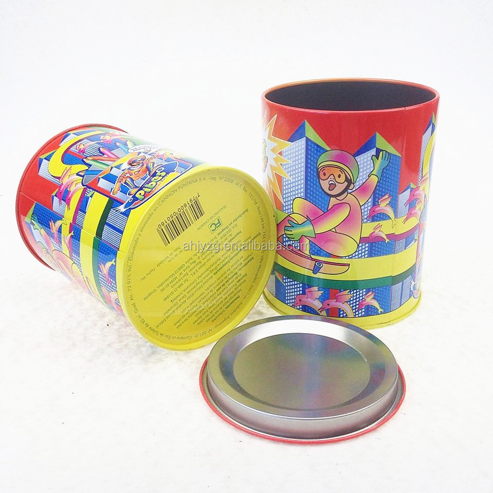 gift box suppliers round metal customized tins metal boxes for perfume storage