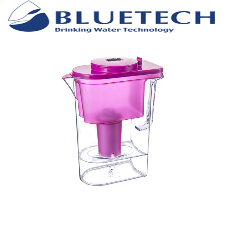 Hot sell 2.4 L bpa free Lily home water purifier drinking alkaline water filter pitchers
