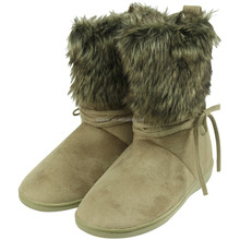 Slipper stiefel indoor/outdoor winterstiefel unisex zwei ton plüsch warmstart