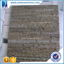 Cheap brown slate tile natural stone wall covering culture stone