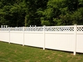 popular privacy vinyl pvc garden fence with lattice on tpo