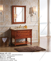 Antique Pine Wood Reproduction Bathroom Cabinets and Vanities