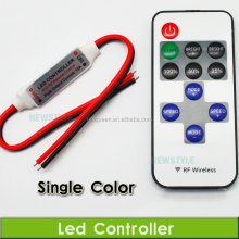 DC 12V 24V 6A Wireless RF Mini Dimmer Led Remote Controller 12V to Control Single Color Strips 3528 5050 Light