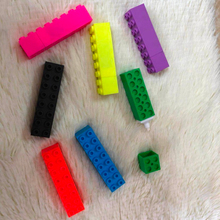 fluorescent ink pen Magic cube shape can splice stationery gift student fluorescent pen Building block Highlighter pen