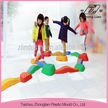 Interesting indoor kids children plastic toy, balance beam