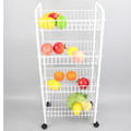 123-38 home collapsible easy moving 4 tier metal kitchen utility cart