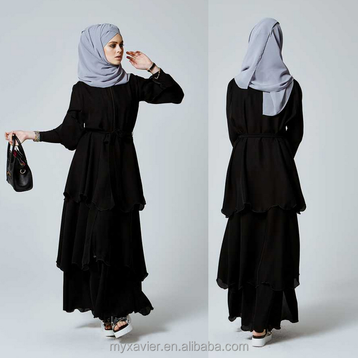 new burqa designs in dubai photo black three layer skirt beautiful abaya designer burqa