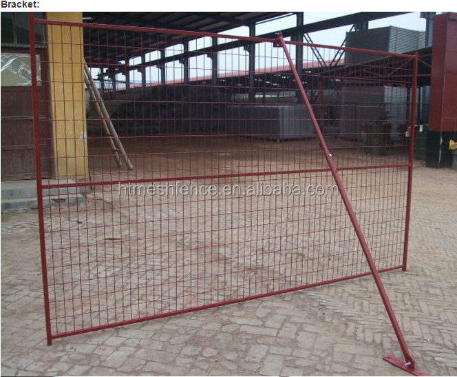 6'x10' powder coated Canada standard temporary fence