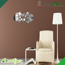 Widely Used Practical bedroom sofa wall decorated mirrored sticker