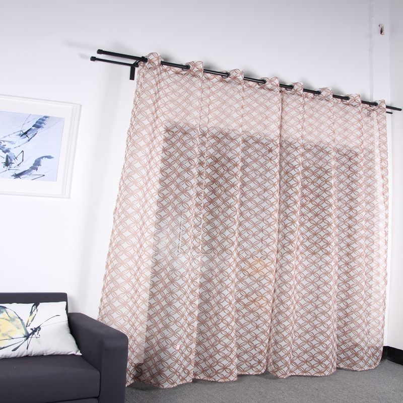 Wholesale high quality modern turkish cheap polyester hotel room sheer curtain