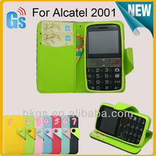 Phone Accessorries Flip Cover Wallet Card Holder For Alcatel One Touch 20.01 Leather Case 2001 2001X 2001A Tango