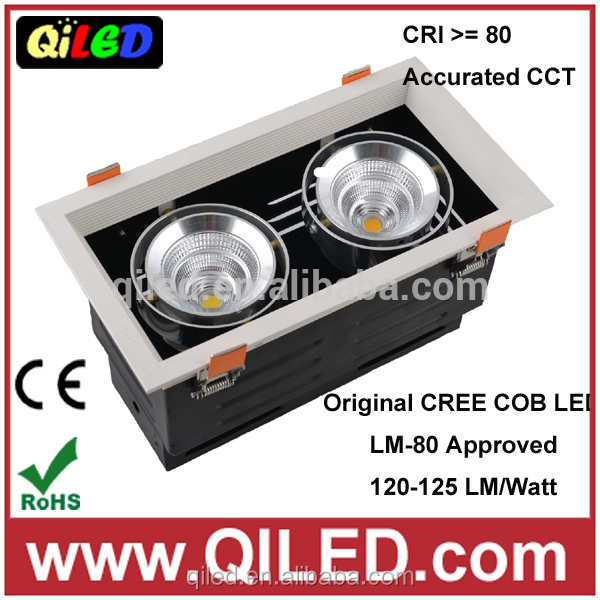 SAA approval double heads 2x7.5W led recessed grille light approved by CE/RoHS