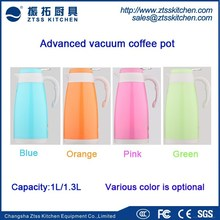 colorful body coffee pot double walled glass vacuum flask coffee kettle tea pot