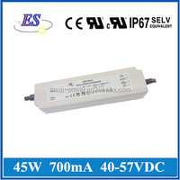 45W 57V 700mA AC-DC Constant Current/Voltage LED Driver Power Supply with CE UL CUL IP67