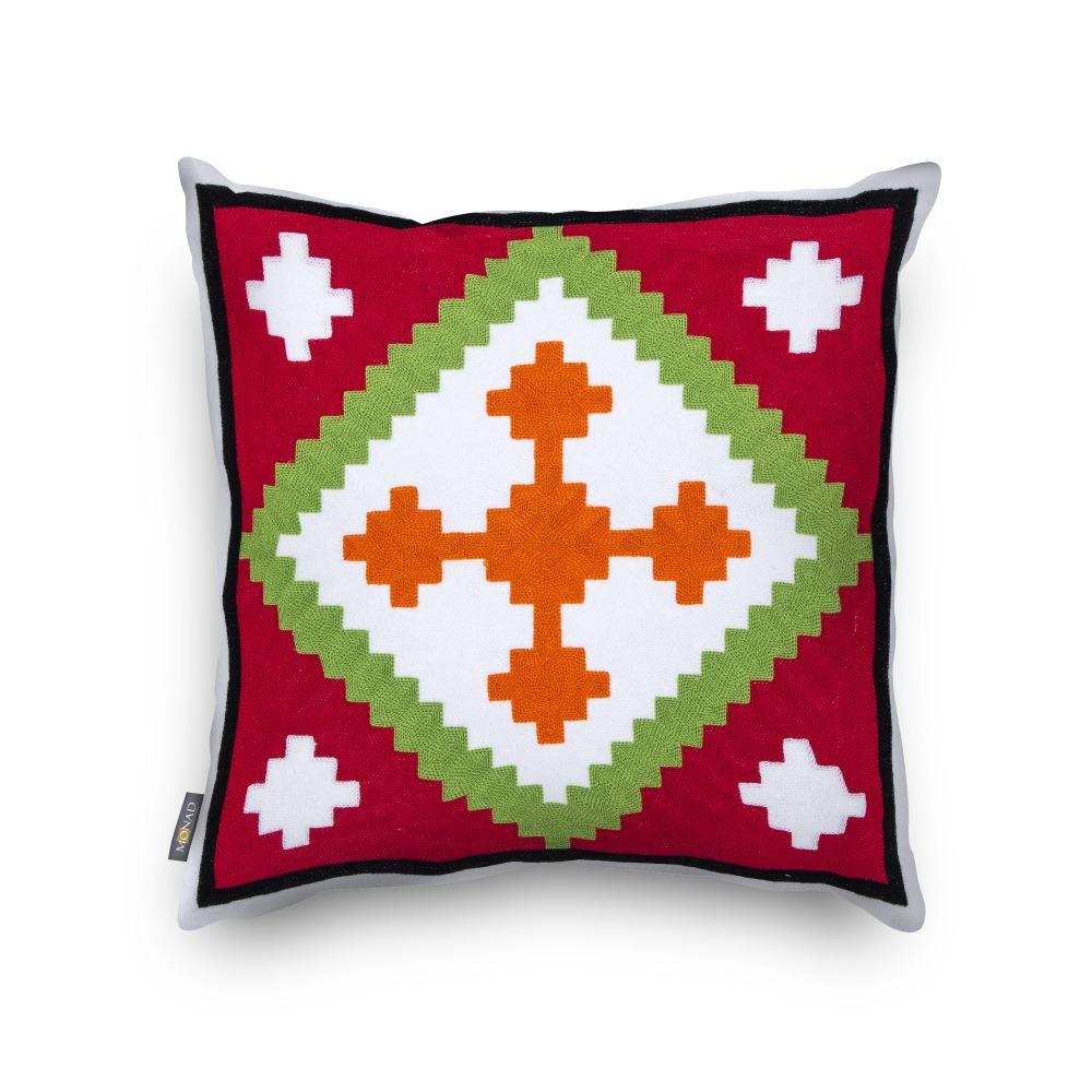 Most Popular 100% Cotton Home Decor Kilim Christmas Style Embroidered Cushion Cover