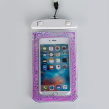 new fashion shining drift sand star dry bag waterproof phone bag case for iphone 6 plus purple blue