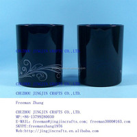 black glass drinkware and beverageware
