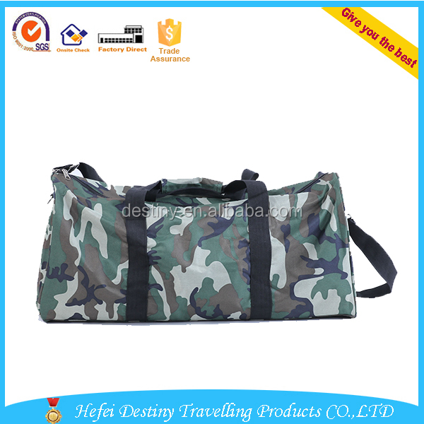 large capacity portable Camouflage travel duffle bag with compartment