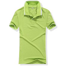Factory Custom 100% Cotton Men Golf Polo Shirts Slim Wholesale China