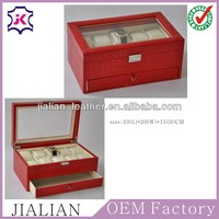2014 New design high-end display leather watch box with pillow