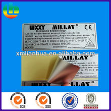 permanent adhesive electronic product PE label sticker