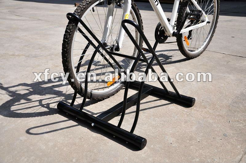 floor-mounted bike display rack/ bicycle stand home-used loading3bikes(ISOapproved)