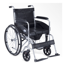 Manual Folding Commode Wheelchair With Toilet