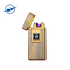 Newest Fingerprint Touch USB Lighter Rechargeable Windproof Flameless Dual Arc Plasma Electronic Lighter