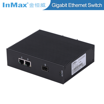 2 WLAN ports and 1 SFP cage DIN-rail Network 3 port gigabit Switch i503A