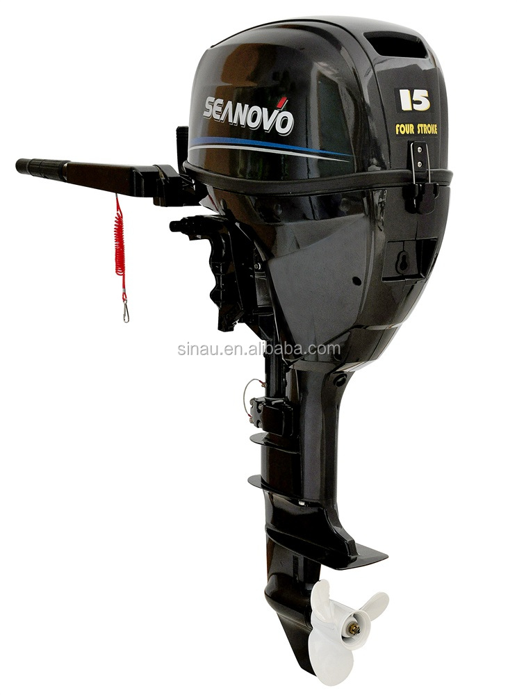 China 15HP 4 stroke outboard motor, Electric start remote control outboard motor for sale
