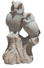 granite owl sculpture