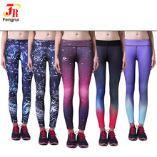 Ladies Fitness Tights Active wear Yoga Sublimation Printing Leggings for women