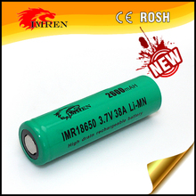 In stock IMREN 18650 battery cell 3.7V 2600 mAh battery imren imr18650 battery 38A