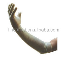 Gynecological latex extra long surgical gloves