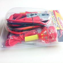portable emergency tools kit with booster cable wire