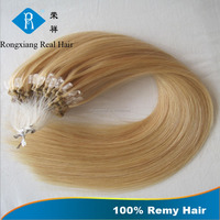 High quality 100% virgin remy human hair keratin easy micro ring hair weft