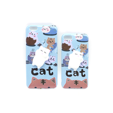 Lovely 3D squeeze squishy lazy cat silicone phone casing cellphone case for iphone 6s 6Plus 7Plus 8 soft TPU cover