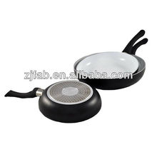 Hot White Ceramic Coating Aluminum Non-stick 3PCS Induction Cookware
