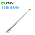 Top quality 6mm diameter 6section custom 440mm telescopic antenna fm bnc radio mini telescopic