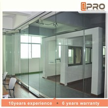Chinese doors glass door thickness door for rooms or hotel use for partition wall