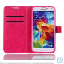 Wallet Case for Samsung Galaxy S5 Pu Leather Wallet Card Flip Open Pocket Case Cover Pouch