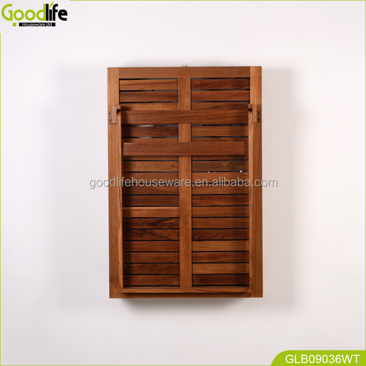 Teak wood outdoor furniture wall mounted study table made in China