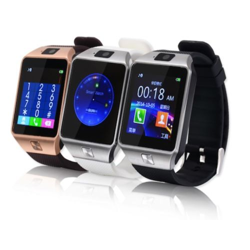 TOP rated cheap factory price Bluetooth V4.0 smart wearable product DZ09 mobile smart watch phone with camera and pedometer