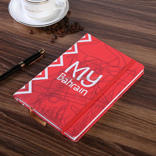 Custom Office Stationery Writing Plain Printed A4/A5/A6 hardcover PU leather diary notebook with elastic band