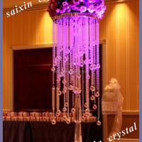Gorgeous Crystal Flower Stands Wedding Decoration