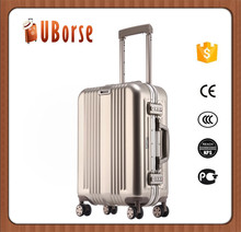 High-end luxury Aluminum Magnesium trolley hardshell suitcase luggage